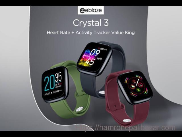 Zeblaze Crystal3 Smart  HD Color Screen High Precision Sensor Long Battery Life (6-7 days) Waterpr