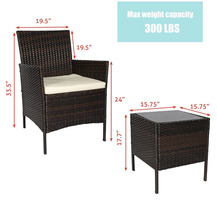 Outdoor Patio Furniture Sets PE Rattan Wicker Bistro Set Small Coffee Table Chair Set All Weather 3