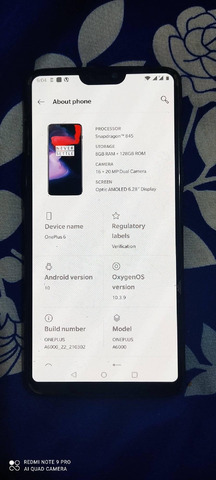 One Plus 6 Mobile  Used For Sale In Nepal