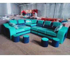 Green -blue comfort sofa